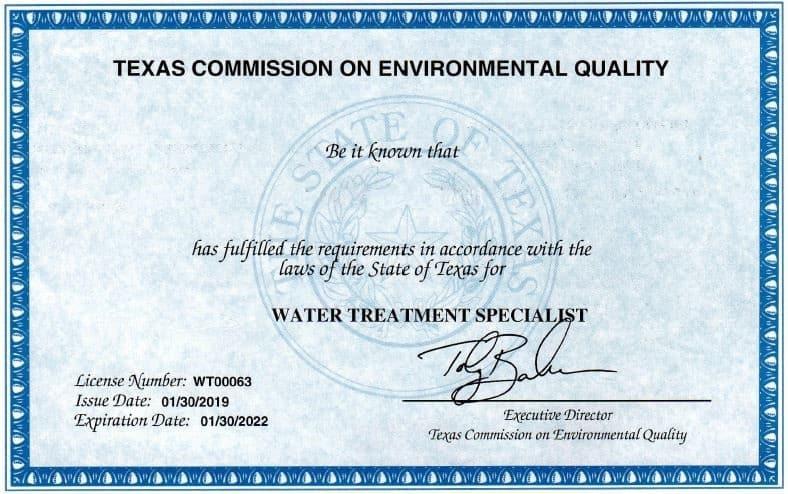 TCEQ License